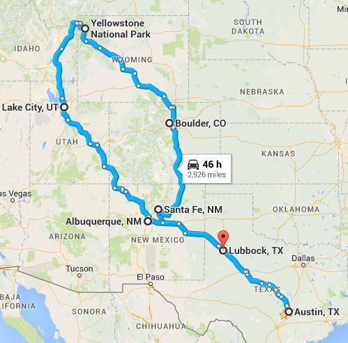 Route for I Love Laundry Tour 2015