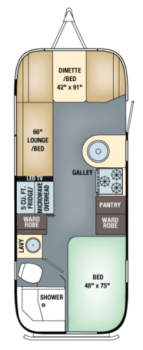 Airstream FlyingCloud 23D - Floorpan