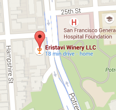 Eristavi Winery Map - San Francisco